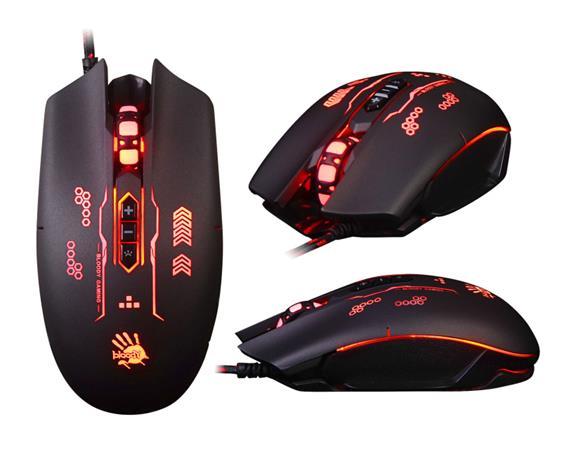Herní myš A4tech BLOODY Q80B, 3200DPI, USB, gunfire, černá