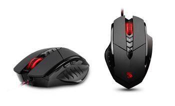 Herní myš A4tech BLOODY V7M, až 3200DPI, 160KB paměť, USB, CORE 2, kovové podložky, černá
