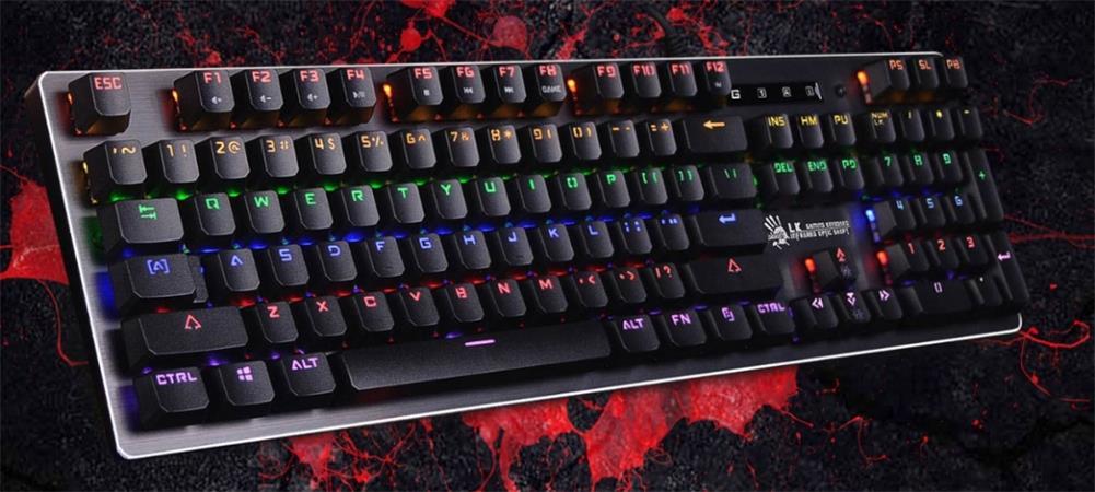 Herní klávesnice A4tech Bloody B760W mechanická RGB, USB, CZ, černá