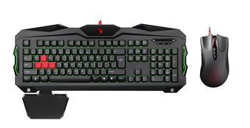 Herní set klávesnice s myši A4tech Bloody B2100, USB, CZ, černá