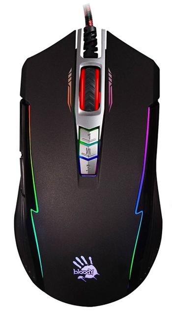 Herní myš A4tech BLOODY P93A, ANIMATION GAMING, 5000DPI, USB, Core 3, černá