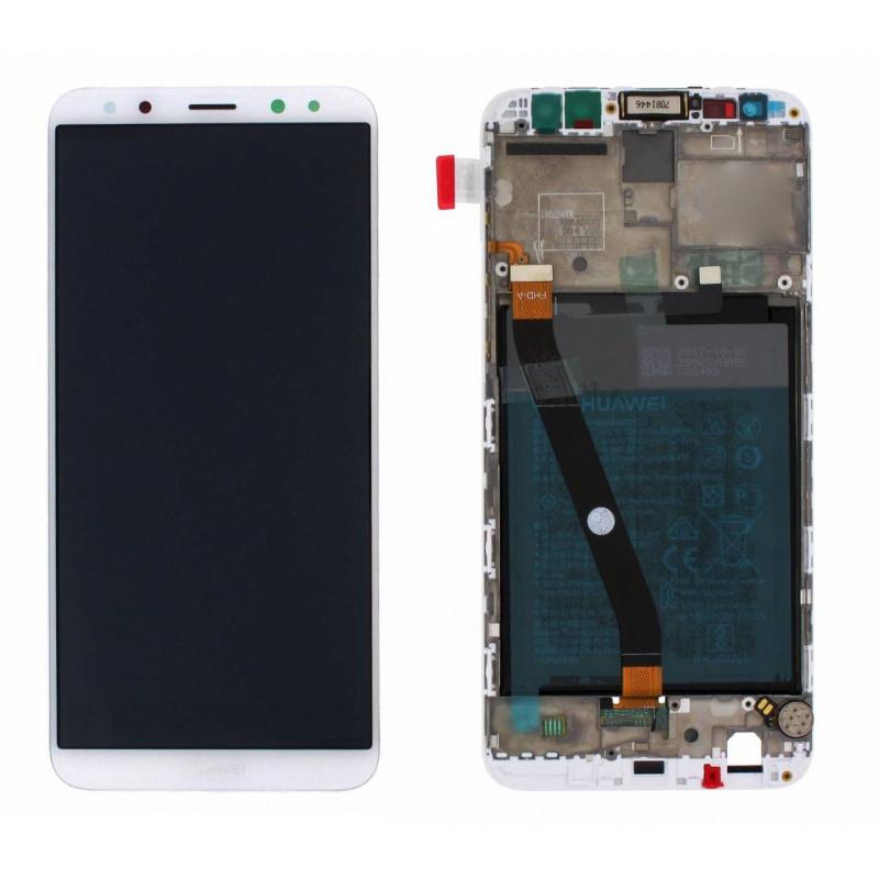 LCD + dotyk + rámeček + baterie pro Huawei Mate 10 Lite, white (Service Pack)