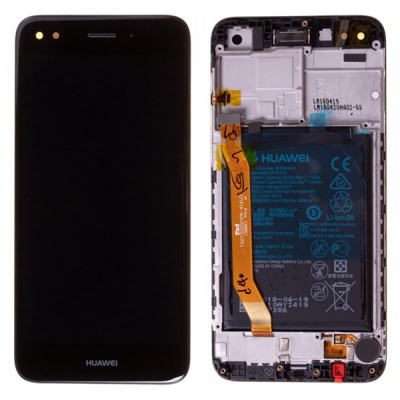 LCD + dotyk + rámeček + baterie pro Huawei P9 Lite Mini, black (Service Pack)