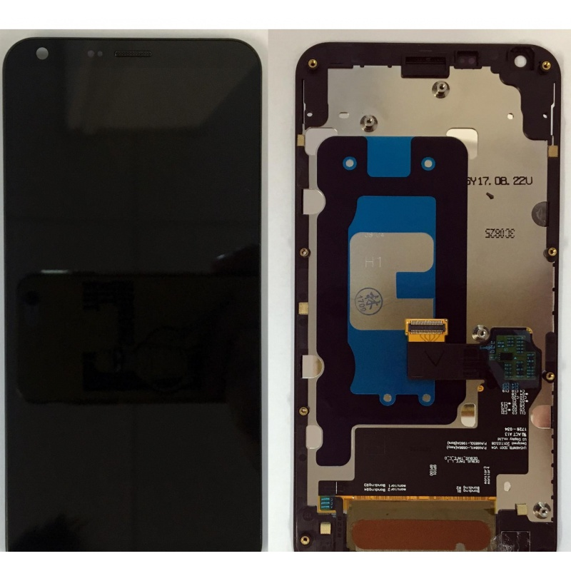 LCD + dotyk + rámeček pro LG Q6, black OEM