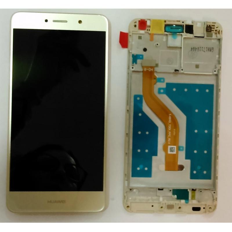 LCD + dotyk + rámeček pro Huawei Y7, gold OEM