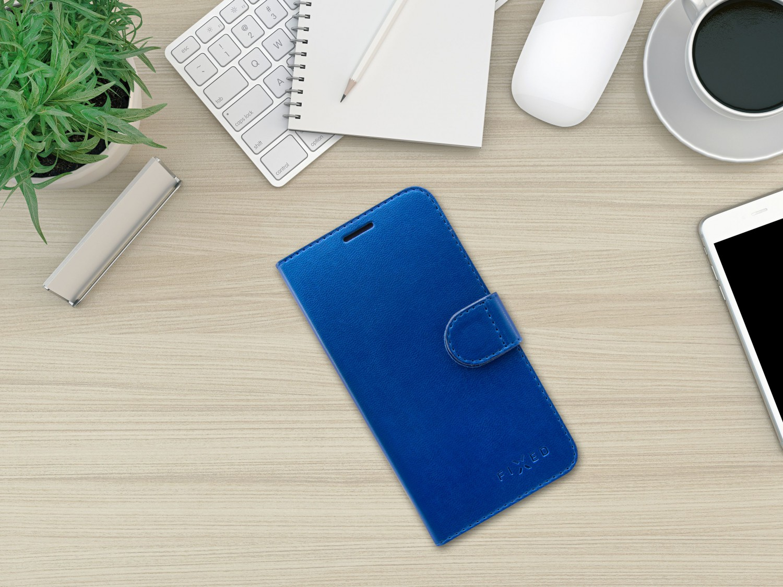 FIXED FIT SHINE flipové pouzdro pro Samsung Galaxy Xcover 4/4S, modré