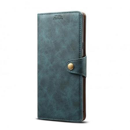 Lenuo Leather flipové pouzdro na Xiaomi Redmi Note 8 Pro, blue