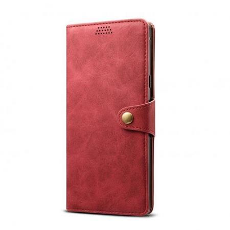 Lenuo Leather flipové pouzdro na Xiaomi Redmi Note 8 Pro, red