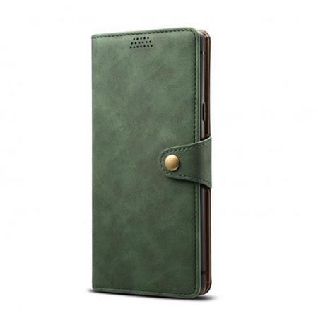 Lenuo Leather flipové pozdro na Xiaomi Redmi Note 8 Pro, green