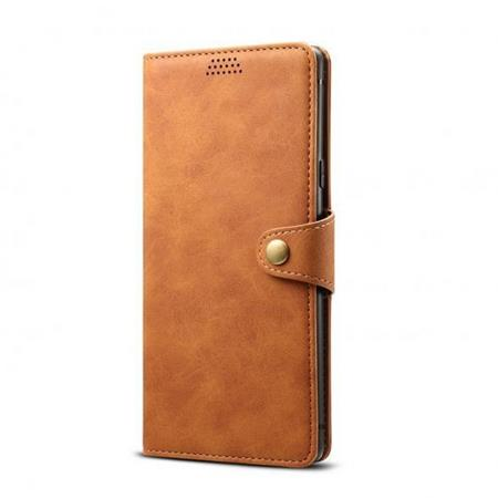 Lenuo Leather flipové pozdro na Xiaomi Mi 9 Lite, brown