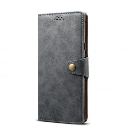 Lenuo Leather flipové pozdro na Xiaomi Redmi Note 8T, dark grey