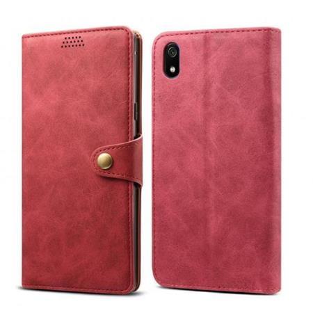 Lenuo Leather flipové pouzdro na Xiaomi Redmi 7A, red