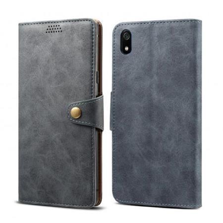 Lenuo Leather flipové pouzdro na Xiaomi Redmi 7A, dark grey