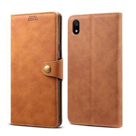 Lenuo Leather flipové pouzdro na Xiaomi Redmi 7A, brown