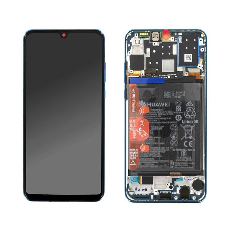 LCD + dotyk + rámeček + baterie pro Huawei P30 Lite, white (Service Pack)
