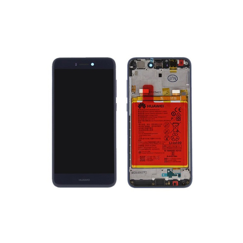 LCD + dotyk + rámeček + baterie pro Huawei P9 Lite / Honor 8 Lite, blue (Service Pack)