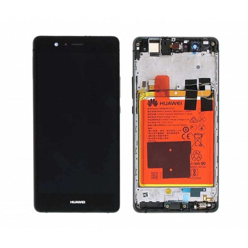 LCD + dotyk + rámeček + baterie pro Huawei P9 Lite, black (Service Pack)