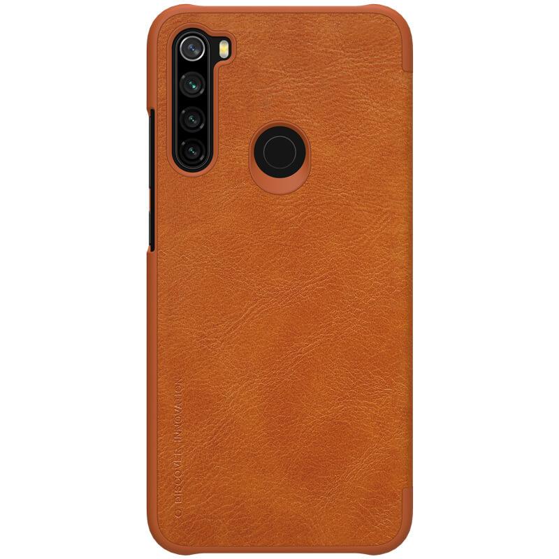 Flipové pouzdro Nillkin Qin Book pro Xiaomi Redmi Note 8, brown