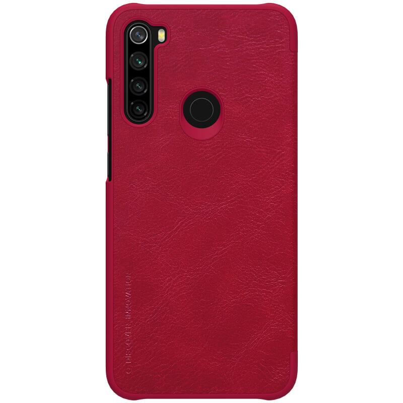 Flipové pouzdro Nillkin Qin Book pro Xiaomi Redmi Note 8, red