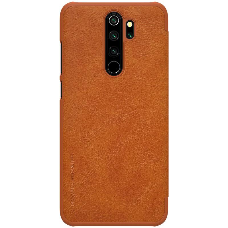 Flipové pouzdro Nillkin Qin Book pro Xiaomi Redmi Note 8 Pro, brown