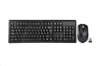 Set bezdrátová klávesnice + bezdrátová myš A4tech 4200N, V-Track,CZ/US, USB, černá