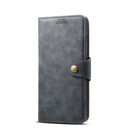 Lenuo Leather flipové pouzdro na Apple iPhone X/Xs, dark grey