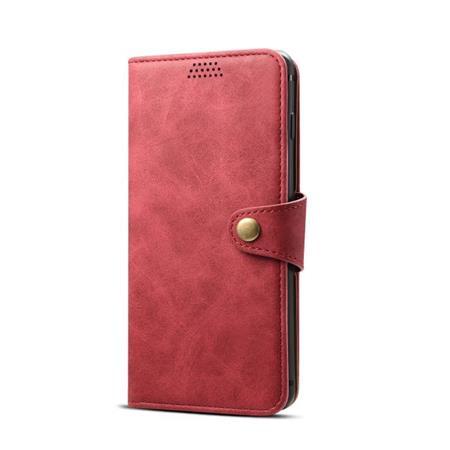 Lenuo Leather flipové pouzdro na Apple iPhone X/Xs, red