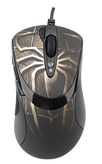 Herní myš A4tech XL-747H, ANTI-VIBRATE, 3600DPI hnědý pavouk