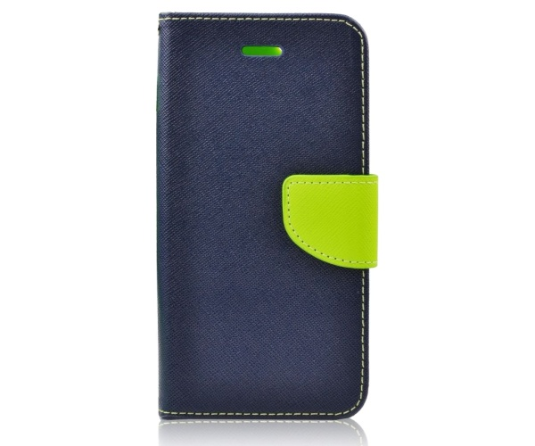 Fancy Diary flipové pouzdro pro SAMSUNG GALAXY NOTE 10, modro-limetkové