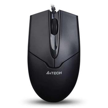 Optická myš A4tech OP-550NU, 2click, 1 kolečko, 3 tlačítka, USB, černá