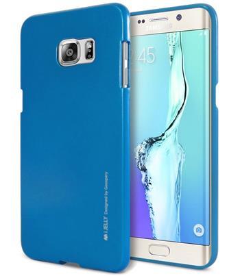 Silikonové pouzdro Mercury iJelly Metal pro Samsung Galaxy A70, modrá