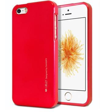 Silikonové pouzdro Mercury iJelly Metal pro Apple iPhone 11, červená