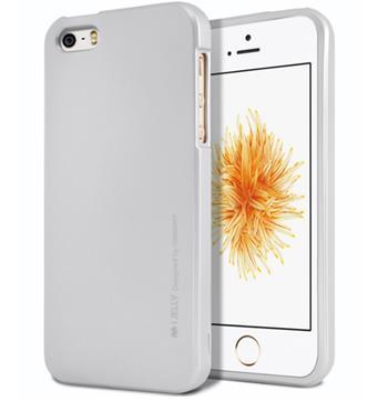 Silikonové pouzdro Mercury iJelly Metal pro Apple iPhone 11, stříbrná