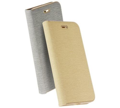 Forcell Luna Book flipové pouzdro pro Apple iPhone 11 Pro Max, stříbrné