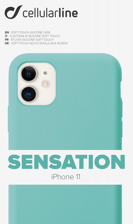 Silikonové pouzdro CellularLine SENSATION pro Apple iPhone 11, zelená