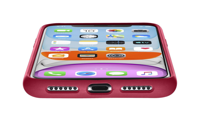 Silikonové pouzdro CellularLine SENSATION pro Apple iPhone 11, červená