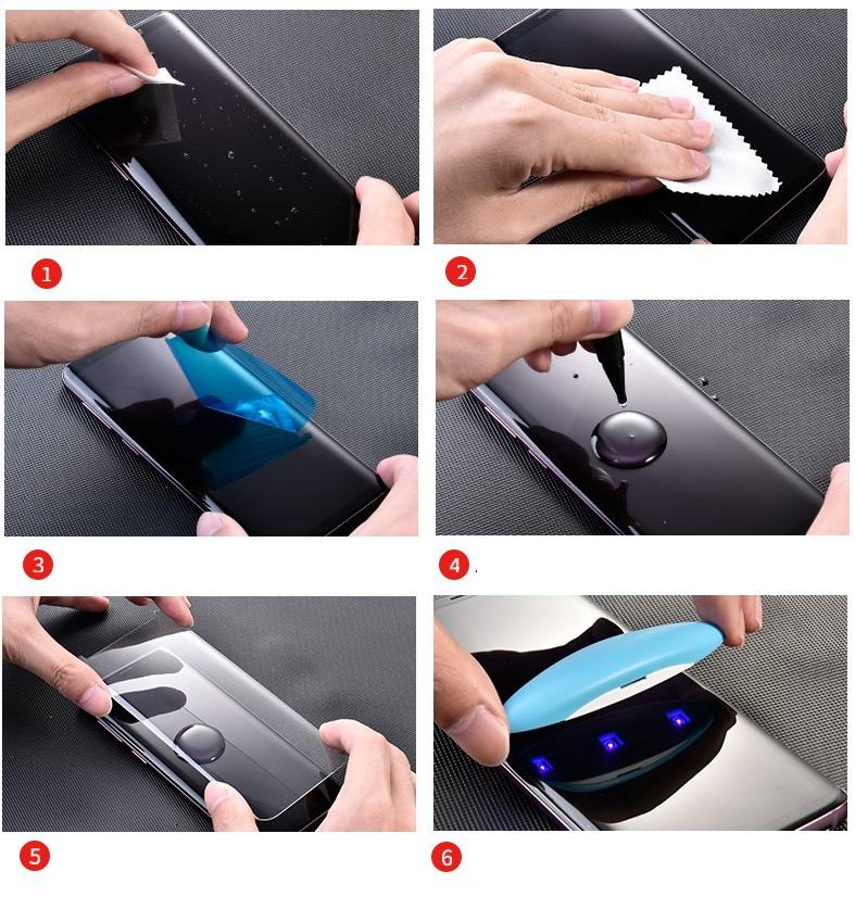 Tvrzené sklo Mocolo 3D UV pro Samsung Galaxy S9+, transparent