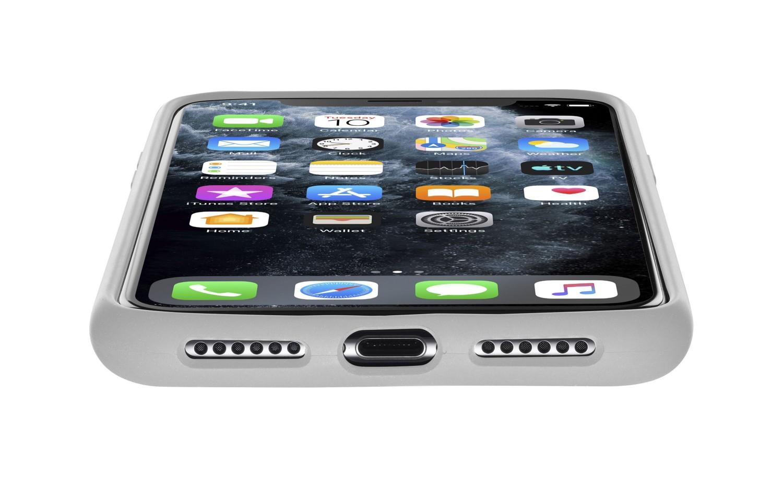 Silikonové pouzdro CellularLine SENSATION pro Apple iPhone 11 Pro, šedá