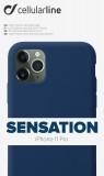 Silikonové pouzdro CellularLine SENSATION pro Apple iPhone 11 Pro, modré