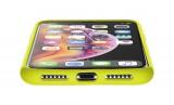 Silikonové pouzdro CellularLine SENSATION pro Apple iPhone XS Max, limetkový neon