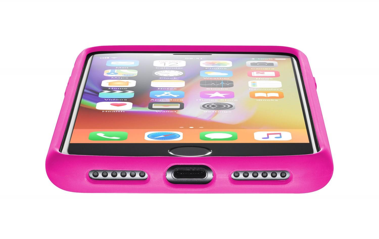 Silikonové pouzdro CellularLine SENSATION pro Apple iPhone 8/7/6, růžový neon