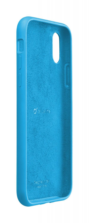 Silikonové pouzdro CellularLine SENSATION pro Apple iPhone X/XS, modrý neon