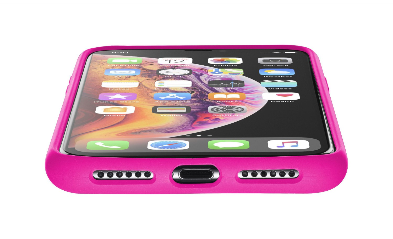 Silikonové pouzdro CellularLine SENSATION pro Apple iPhone X/XS, růžový neon