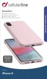 Silikonové pouzdro CellularLine SENSATION pro Apple iPhone XR, starorůžová