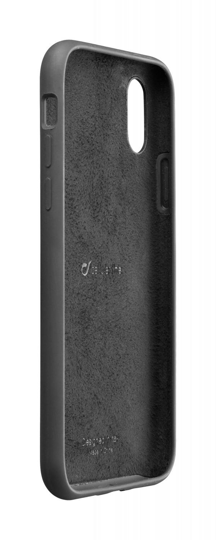 Silikonové pouzdro CellularLine SENSATION pro Apple iPhone XS Max, černá