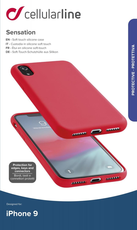 Silikonové pouzdro CellularLine SENSATION pro Apple iPhone XR, červená