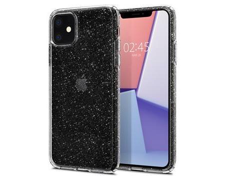 Ochranný kryt Spigen Liquid Crystal Glitter pro Apple iPhone 11, transparentní