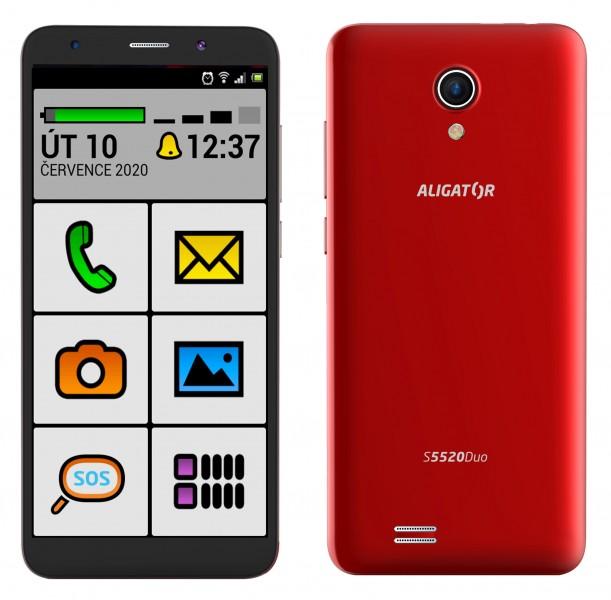 Aligator S5520 Senior 1GB/16GB červená