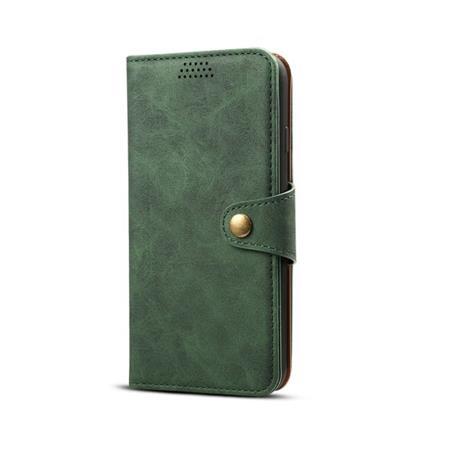 Lenuo Leather flipové pouzdro na Xiaomi Redmi Note 7, green