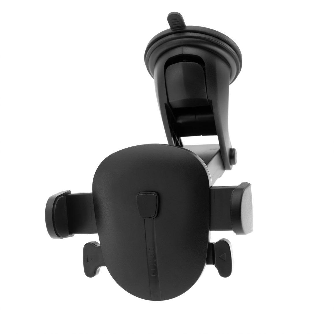 Univerzální držák FIXED Click XL s dlouhou přísavkou na sklo nebo palubní desku, černá